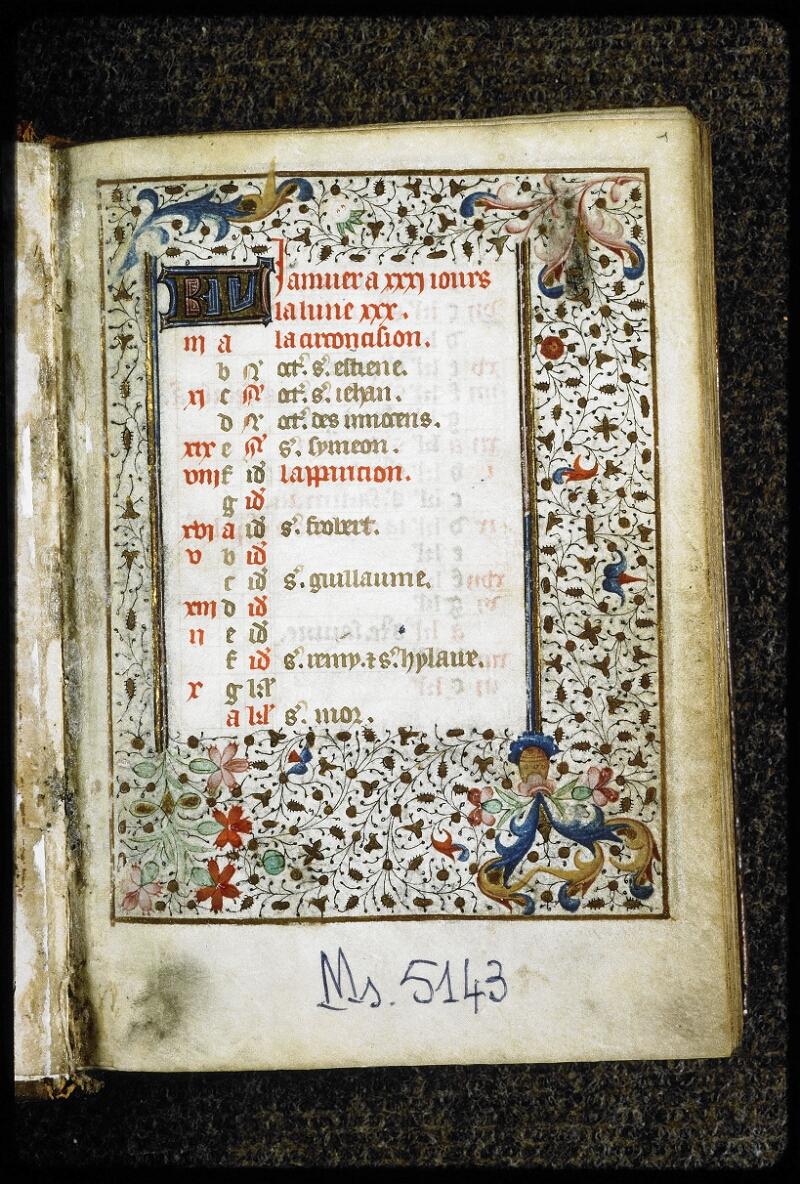 Lyon, Bibl. mun., ms. 5143, f. 001 - vue 2