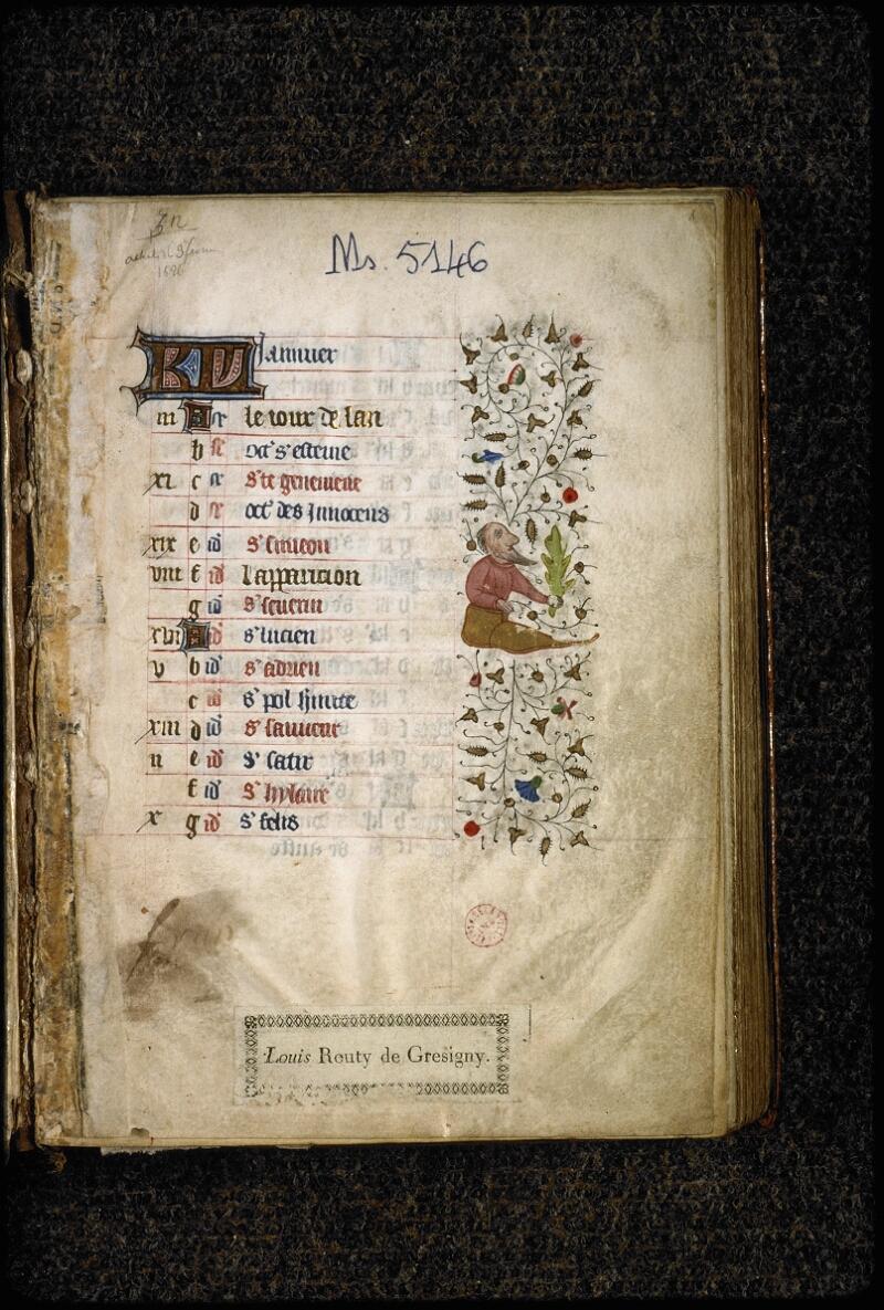 Lyon, Bibl. mun., ms. 5146, f. 001 - vue 2