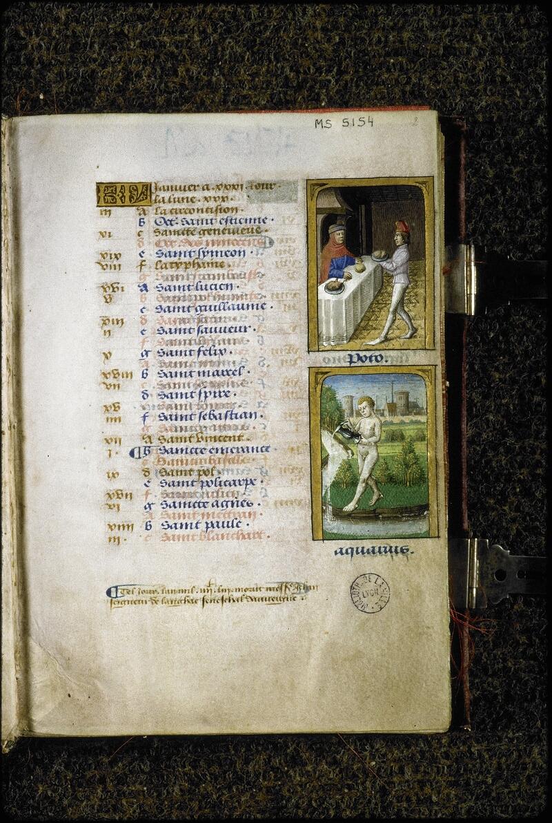 Lyon, Bibl. mun., ms. 5154, f. 002 - vue 2