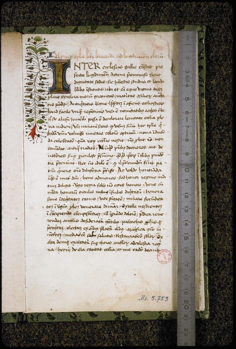 Lyon, Bibl. mun., ms. 5753, f. 001 - vue 1