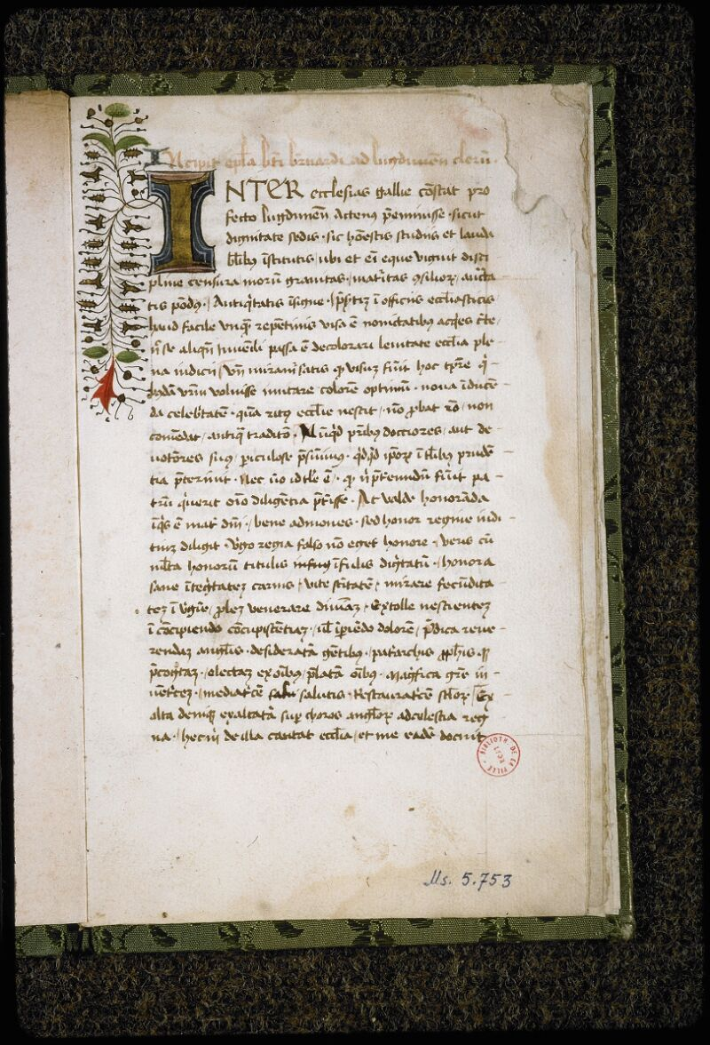 Lyon, Bibl. mun., ms. 5753, f. 001 - vue 2