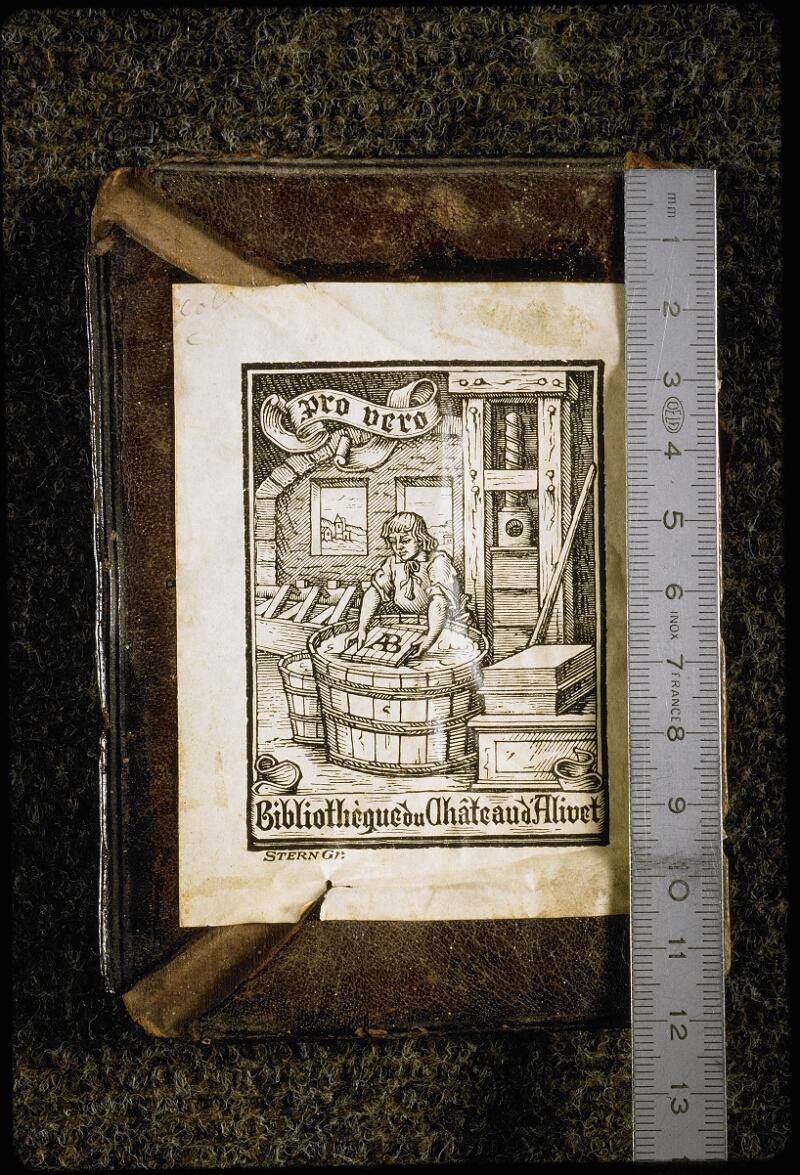 Lyon, Bibl. mun., ms. 5764, contre-plat sup. - vue 1