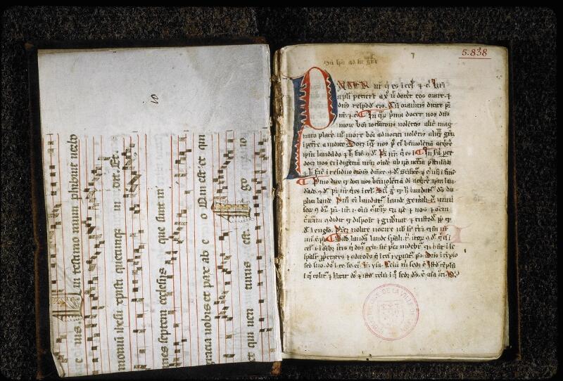 Lyon, Bibl. mun., ms. 5838, contre-plat sup.