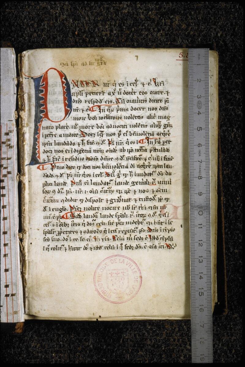 Lyon, Bibl. mun., ms. 5838, f. 001 - vue 1