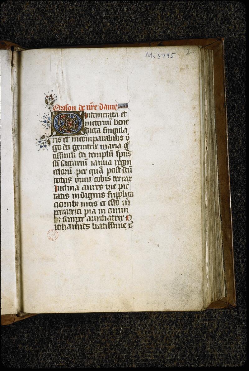 Lyon, Bibl. mun., ms. 5995, f. 002 - vue 2