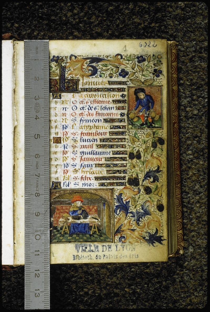 Lyon, Bibl. mun., ms. 6022, f. 001 - vue 1