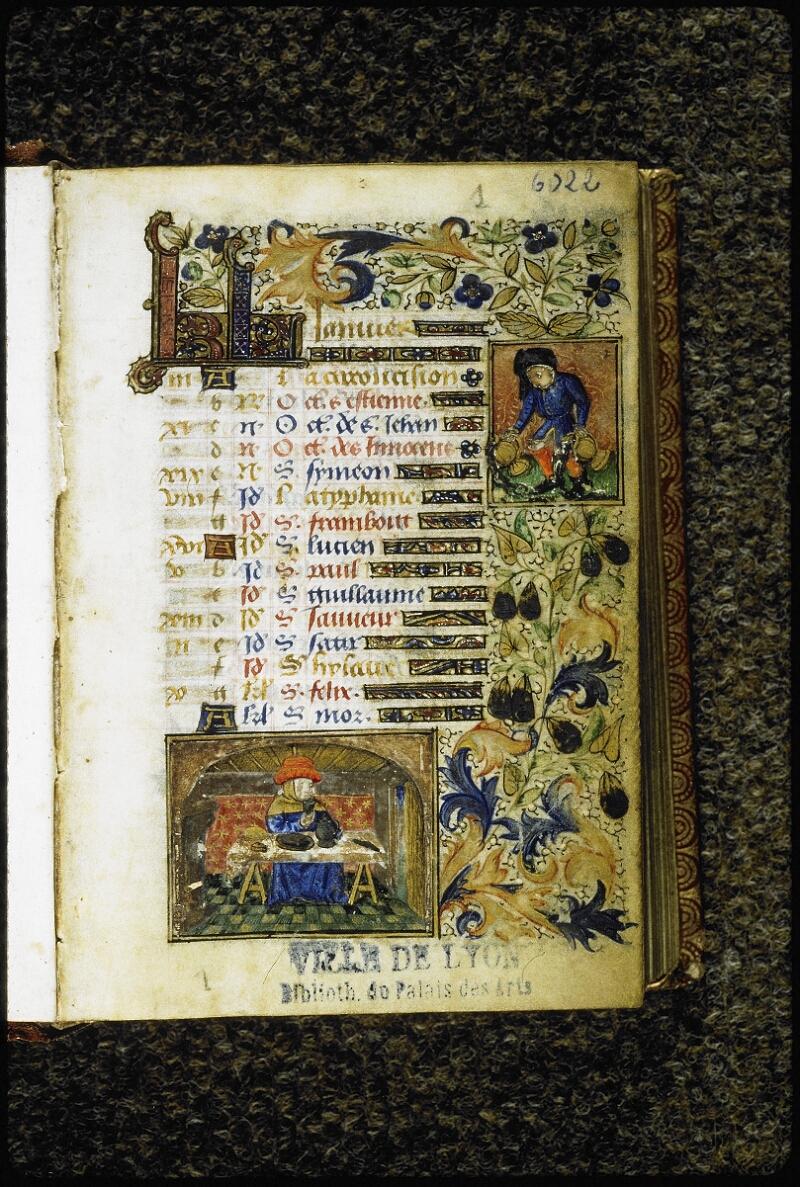 Lyon, Bibl. mun., ms. 6022, f. 001 - vue 2