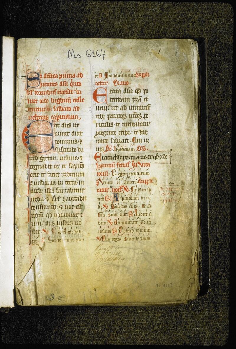 Lyon, Bibl. mun., ms. 6167, f. 001 - vue 2
