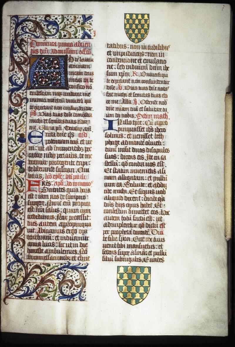 Lyon, Bibl. mun., ms. Coste 0100, f. 007 - vue 1