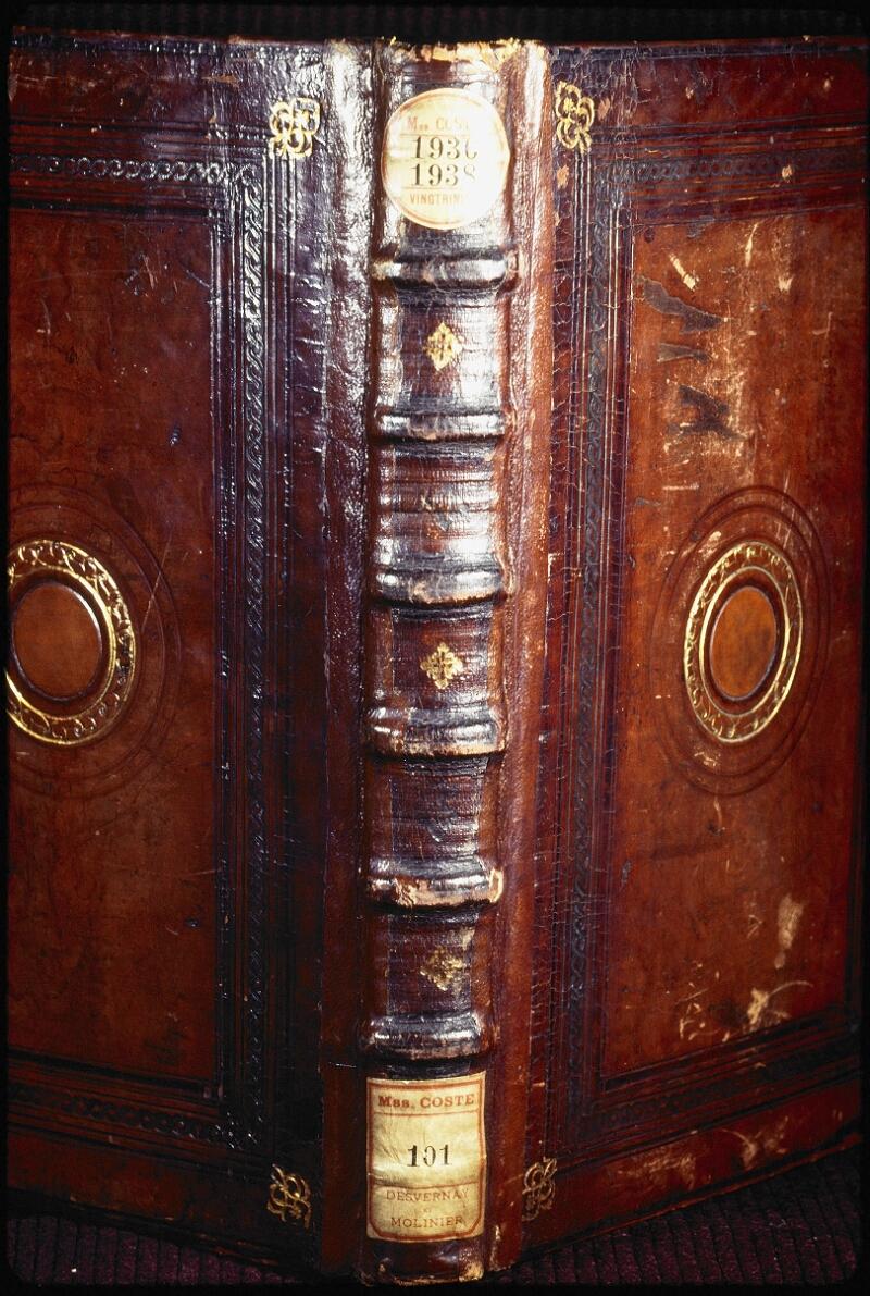 Lyon, Bibl. mun., ms. Coste 0101, reliure dos