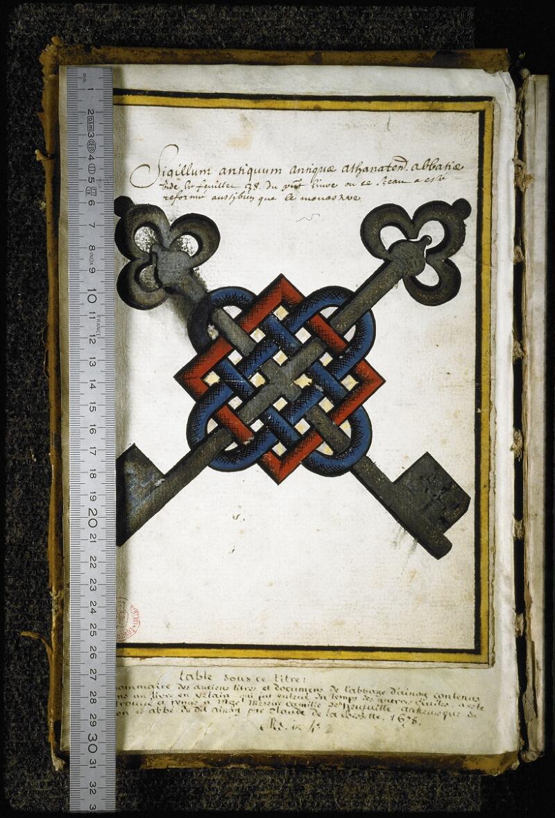 Lyon, Bibl. mun., ms. Coste 0248, f. de garde v - vue 1
