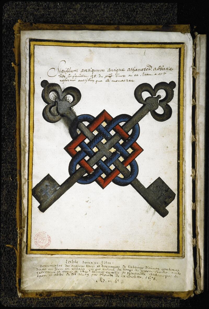 Lyon, Bibl. mun., ms. Coste 0248, f. de garde v - vue 2