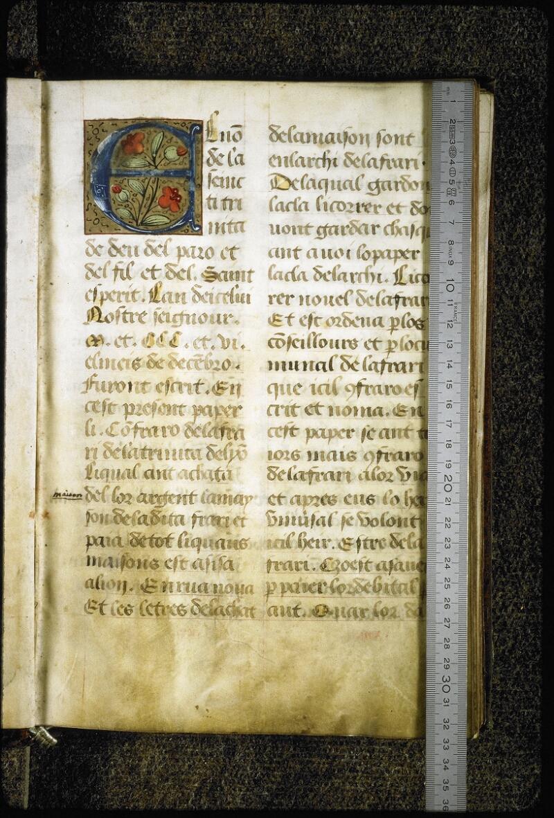 Lyon, Bibl. mun., ms. Coste 0355, f. 003 - vue 1