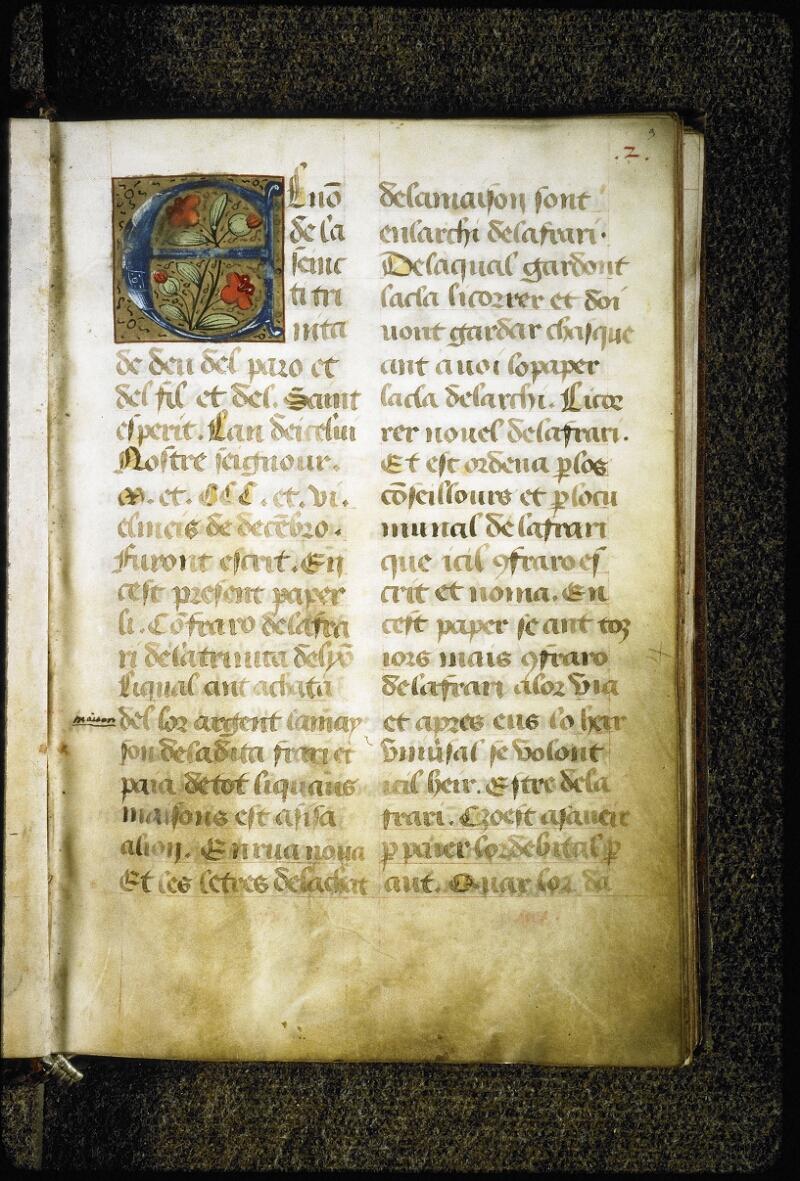 Lyon, Bibl. mun., ms. Coste 0355, f. 003 - vue 2