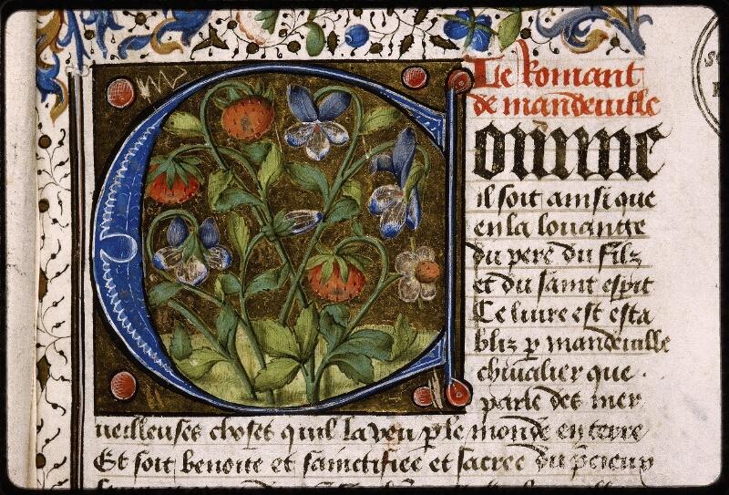 Lyon, Bibl. mun., ms. Palais des Arts 028, f. 001 bis - vue 3