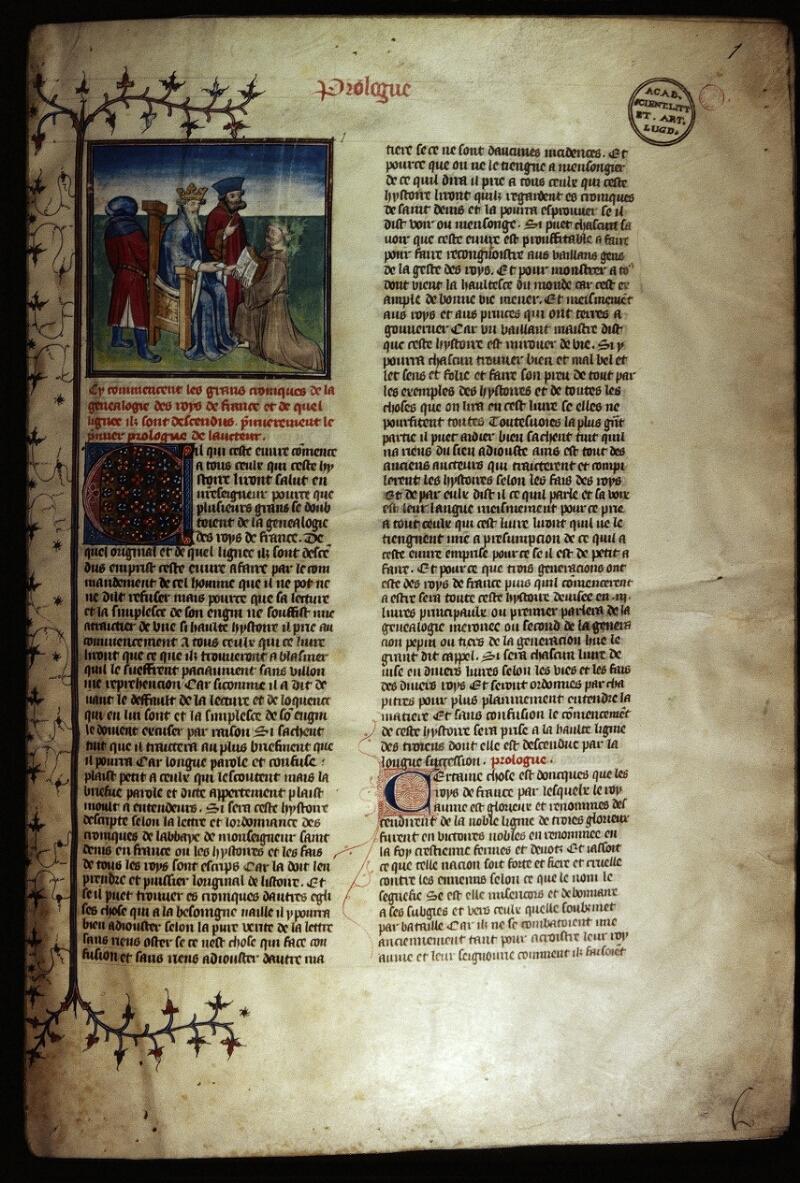 Lyon, Bibl. mun., ms. Palais des Arts 030, f. 001 - vue 1