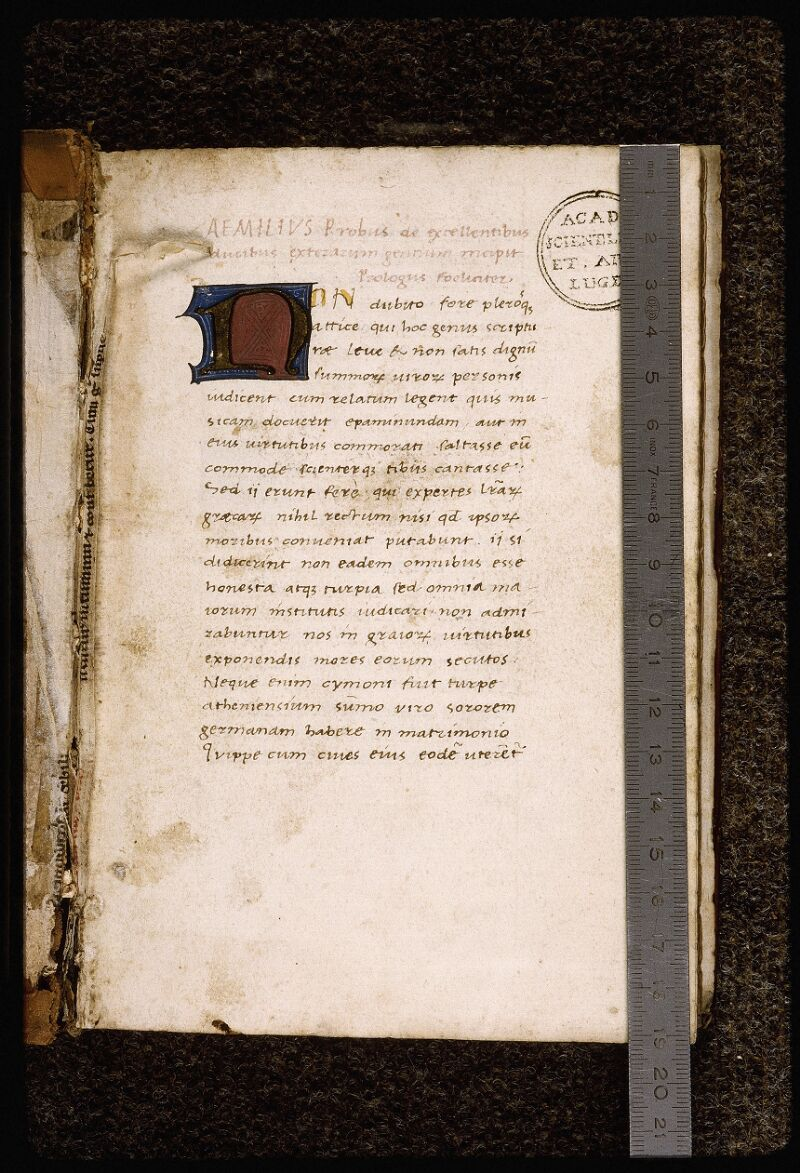 Lyon, Bibl. mun., ms. Palais des Arts 033, f. 001 - vue 1