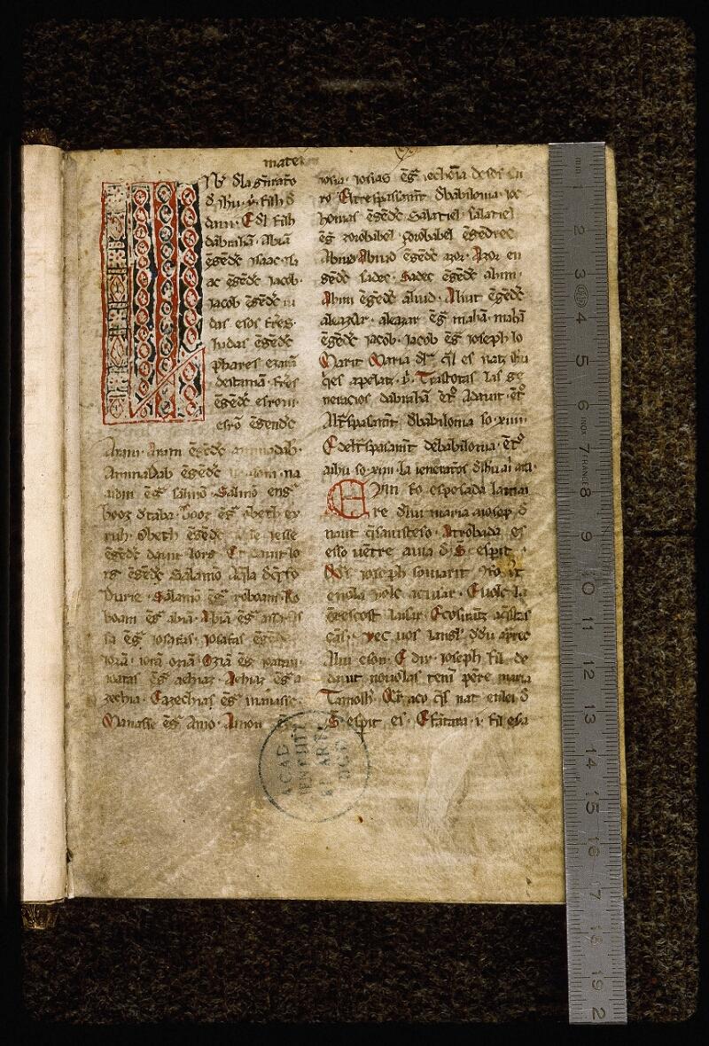 Lyon, Bibl. mun., ms. Palais des Arts 036, f. 001 - vue 1