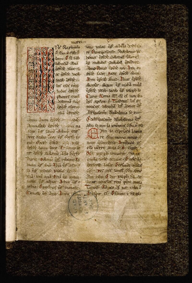 Lyon, Bibl. mun., ms. Palais des Arts 036, f. 001 - vue 2