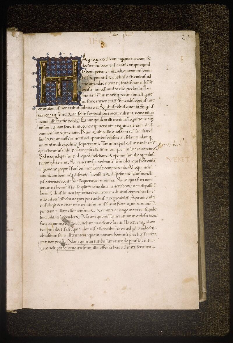 Lyon, Bibl. mun., ms. Palais des Arts 041, f. 002 - vue 2