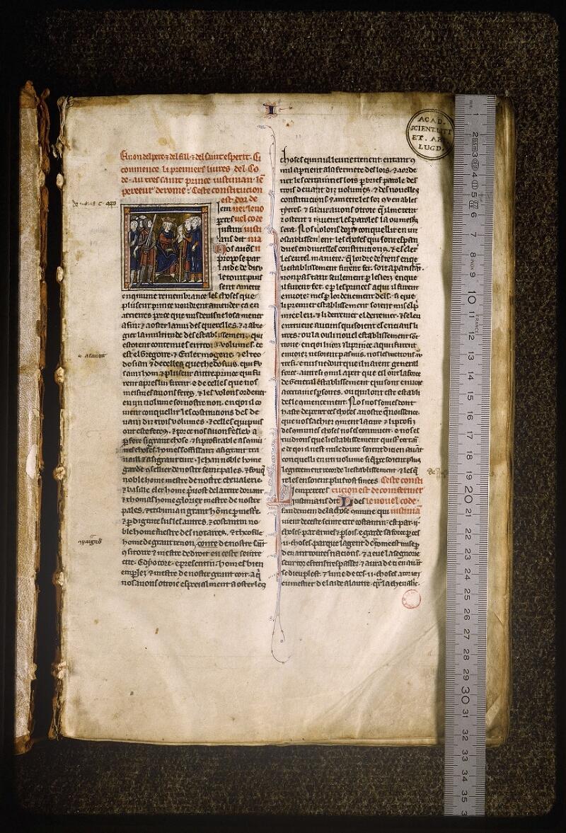 Lyon, Bibl. mun., ms. Palais des Arts 043, f. 001 - vue 1
