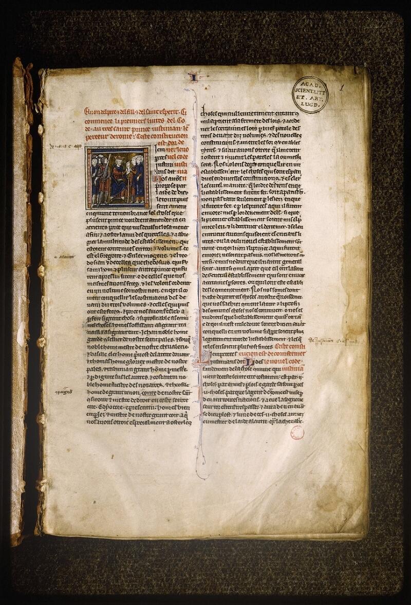 Lyon, Bibl. mun., ms. Palais des Arts 043, f. 001 - vue 2