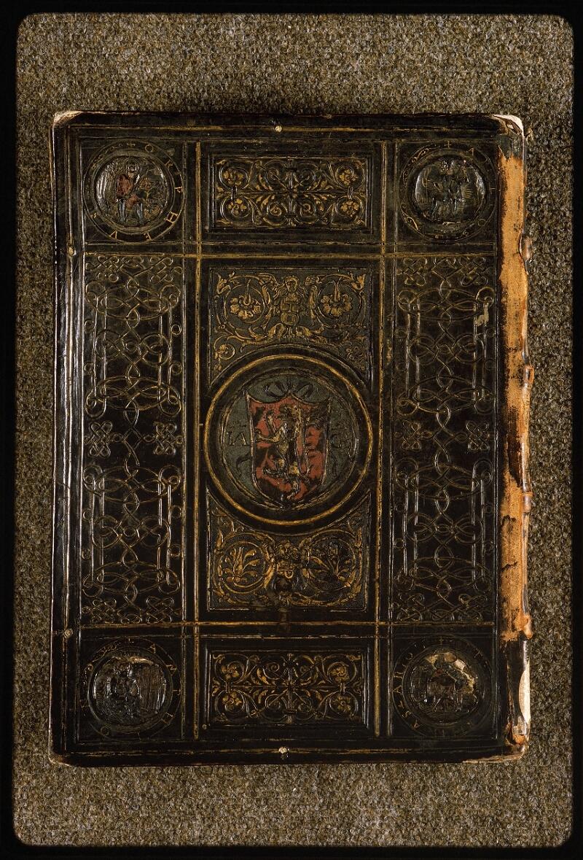 Lyon, Bibl. mun., ms. Palais des Arts 047, reliure plat inf. - vue 1