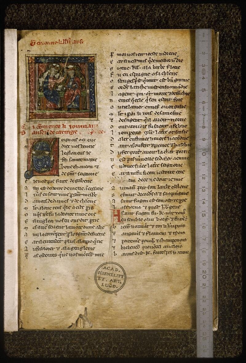 Lyon, Bibl. mun., ms. Palais des Arts 059, f. 001 - vue 1