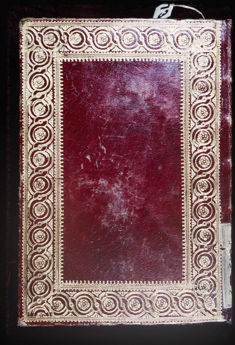 Lyon, Bibl. mun., ms. Palais des Arts 335, reliure plat inf.