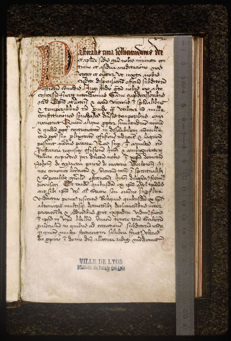 Lyon, Bibl. mun., ms. Palais des Arts 337, p. 001 - vue 1