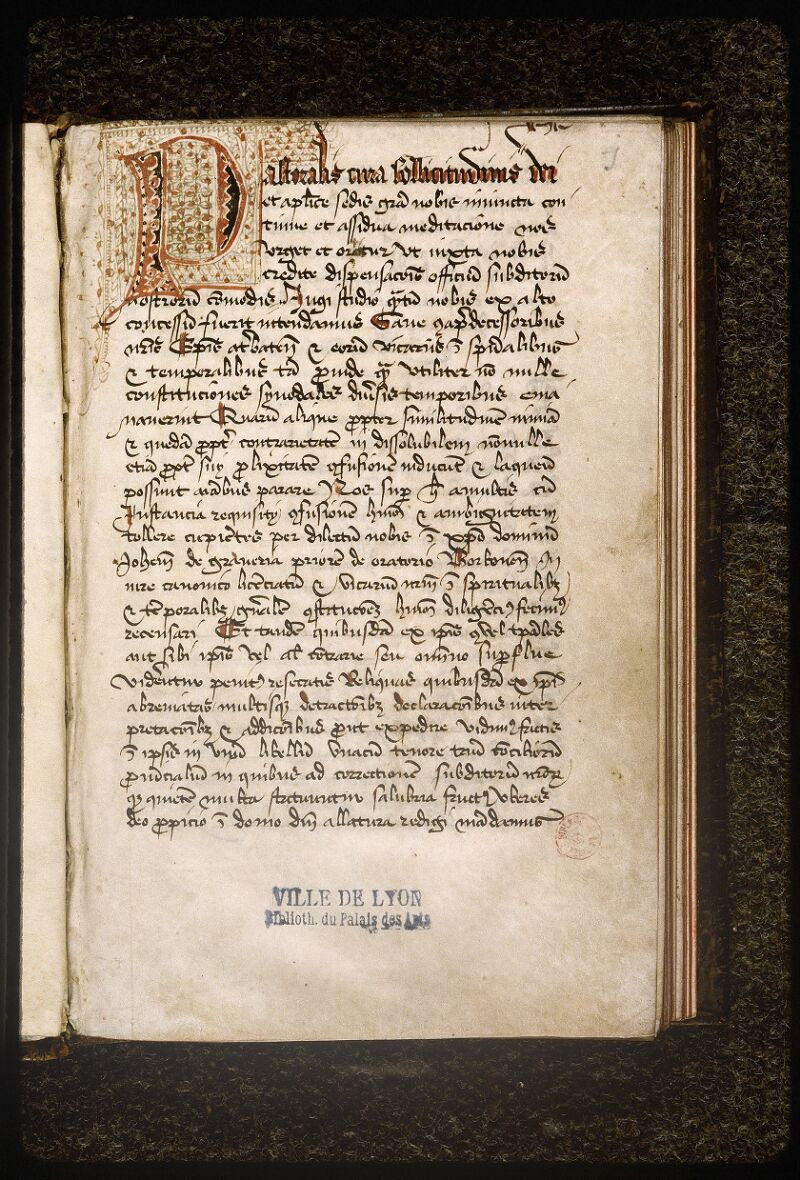 Lyon, Bibl. mun., ms. Palais des Arts 337, p. 001 - vue 2