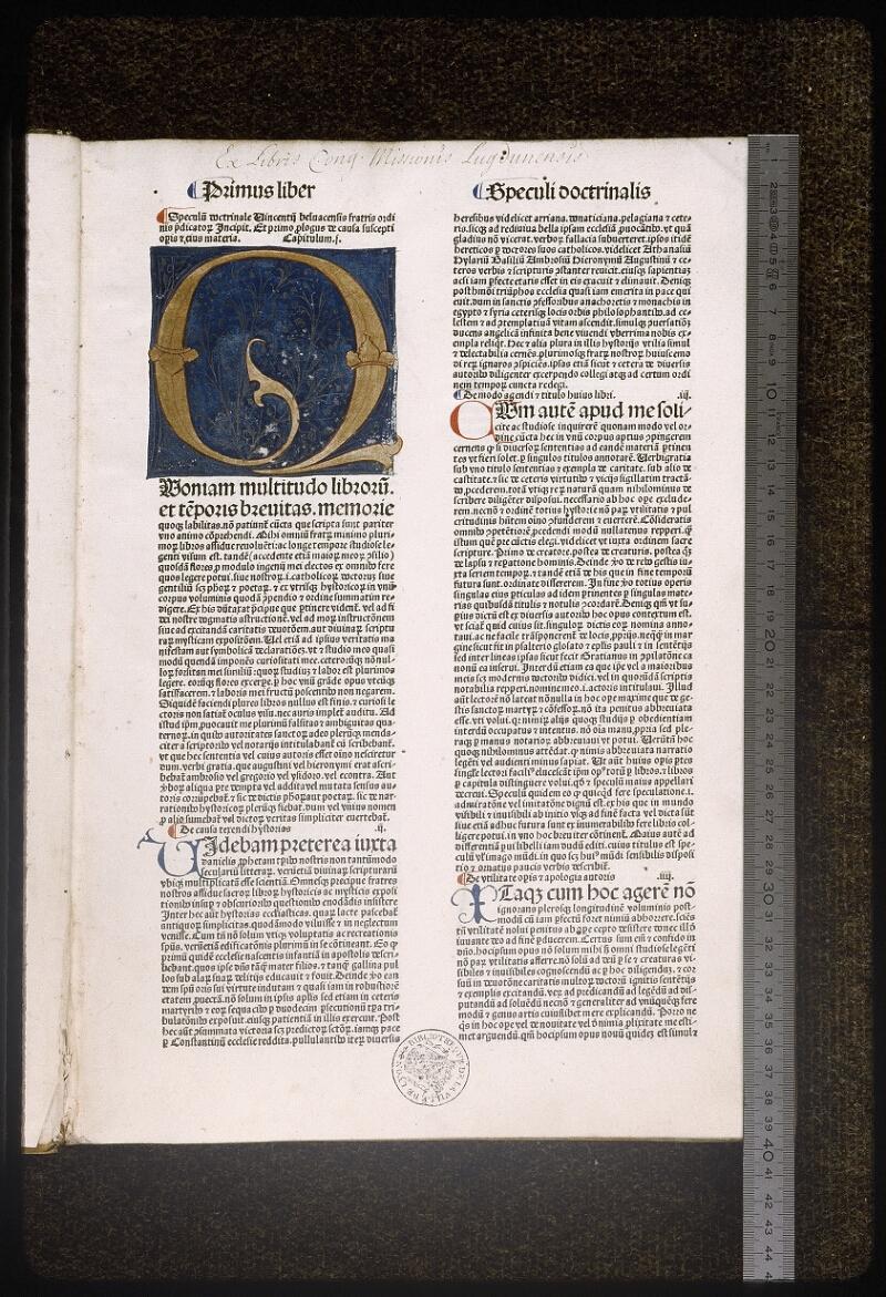Lyon, Bibl. mun., inc. 0030, p. 001 - vue 1