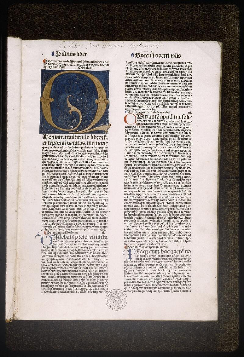 Lyon, Bibl. mun., inc. 0030, p. 001 - vue 2