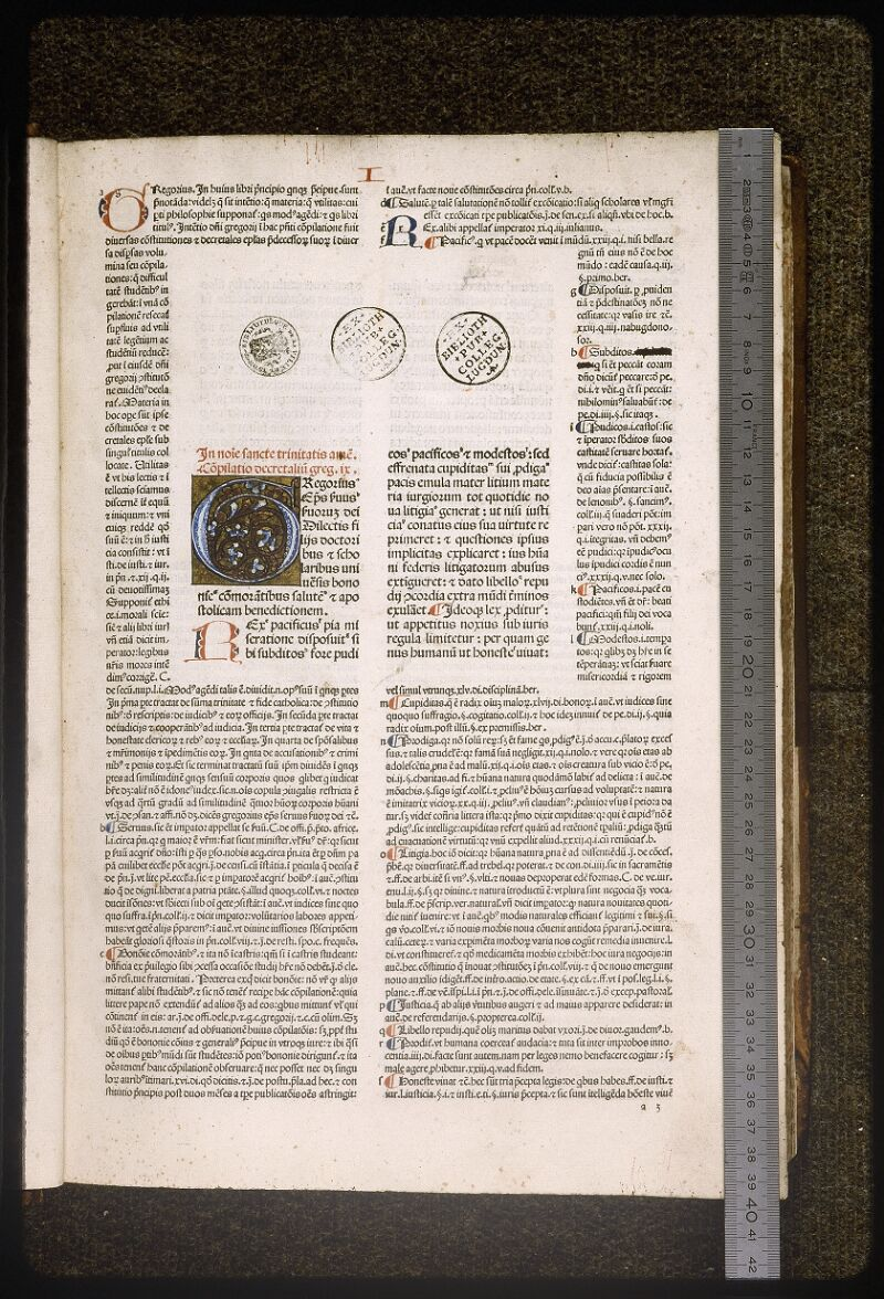 Lyon, Bibl. mun., inc. 0044, f. a 3 - vue 1