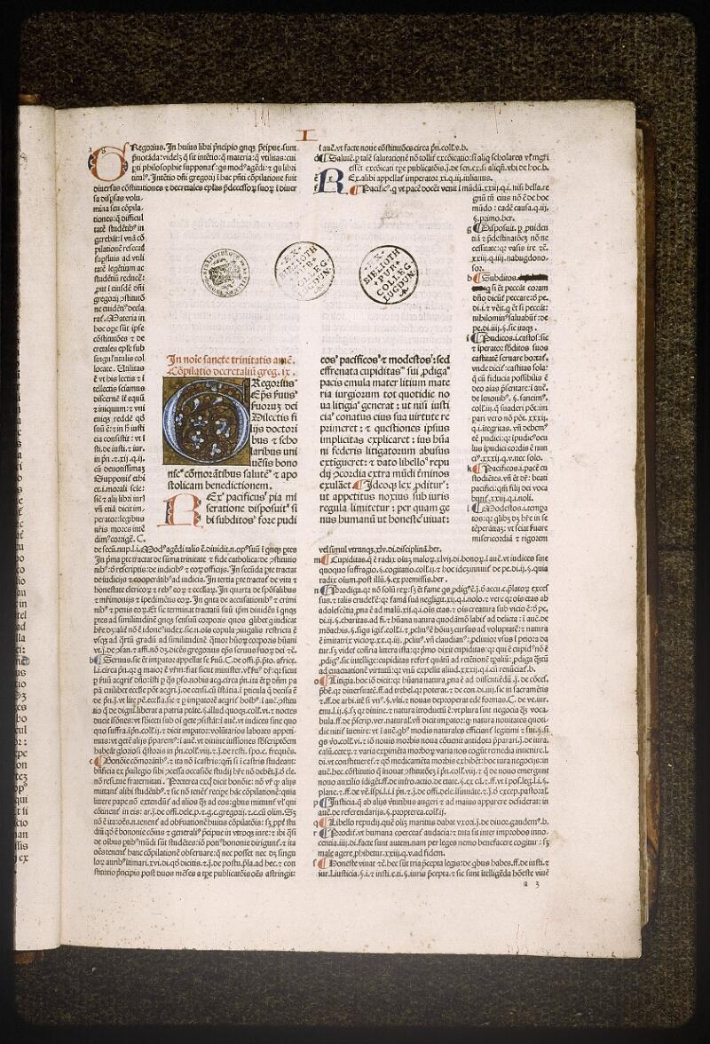 Lyon, Bibl. mun., inc. 0044, f. a 3 - vue 2