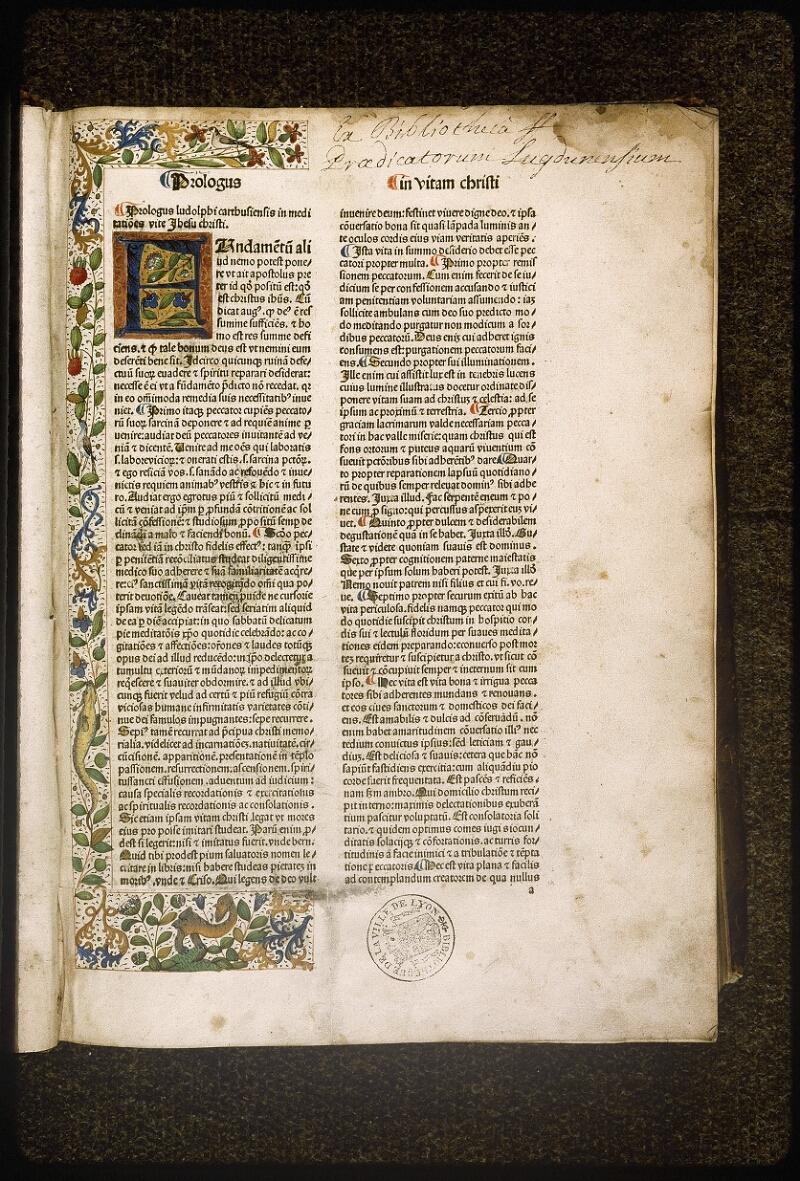 Lyon, Bibl. mun., inc. 0076, f. a 1 - vue 2