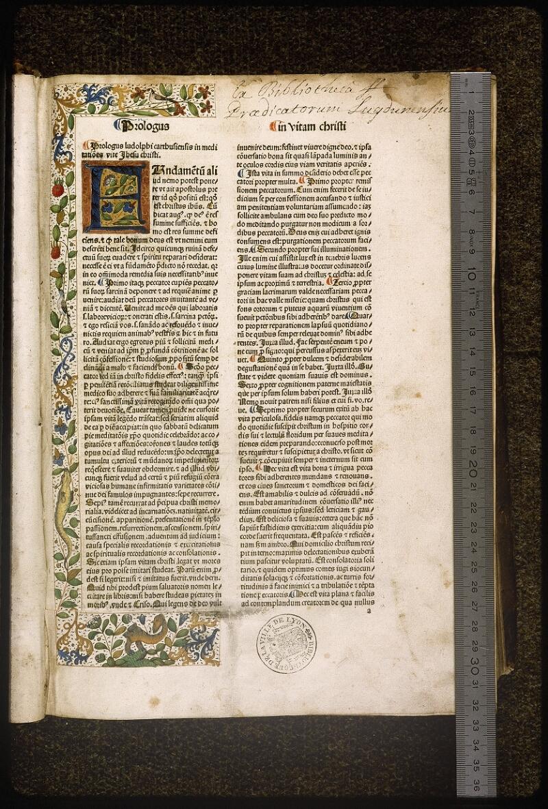 Lyon, Bibl. mun., inc. 0076, f. a 1 - vue 1