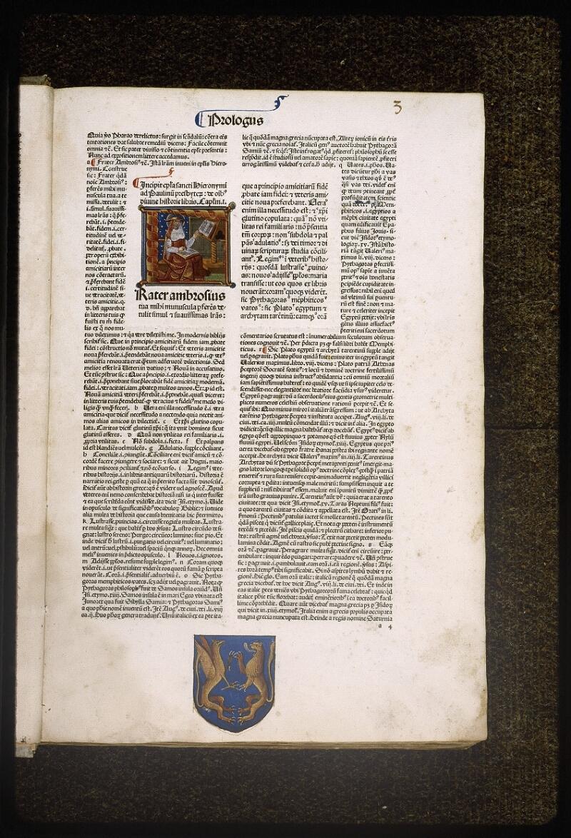 Lyon, Bibl. mun., inc. 0077, f. 003 - vue 1