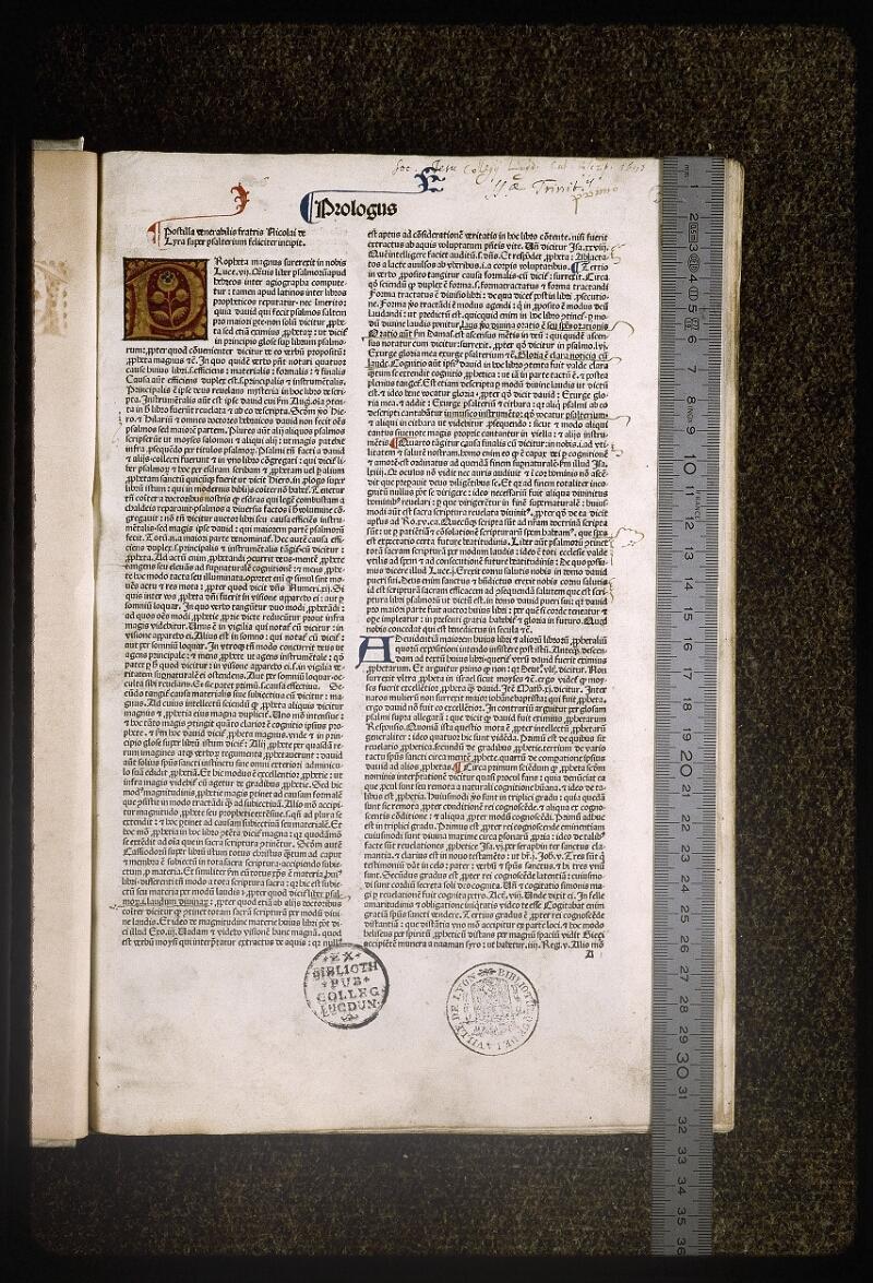 Lyon, Bibl. mun., inc. 0078, f. 001 - vue 1