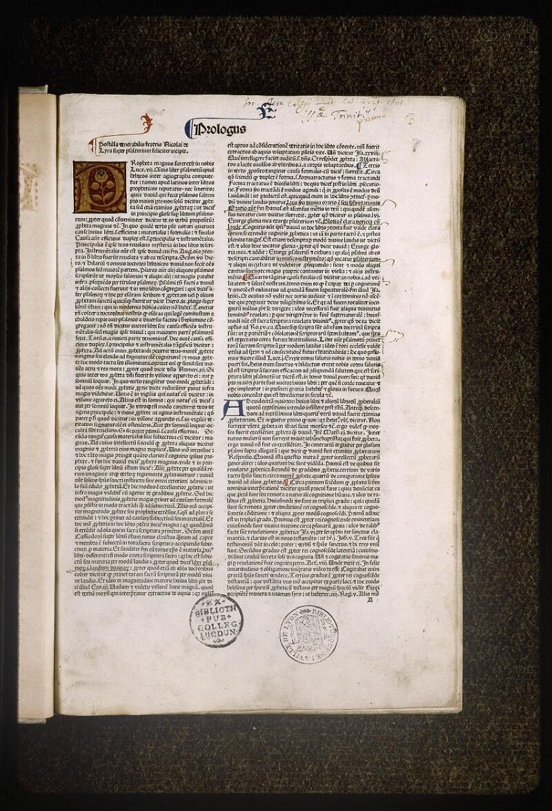 Lyon, Bibl. mun., inc. 0078, f. 001 - vue 2