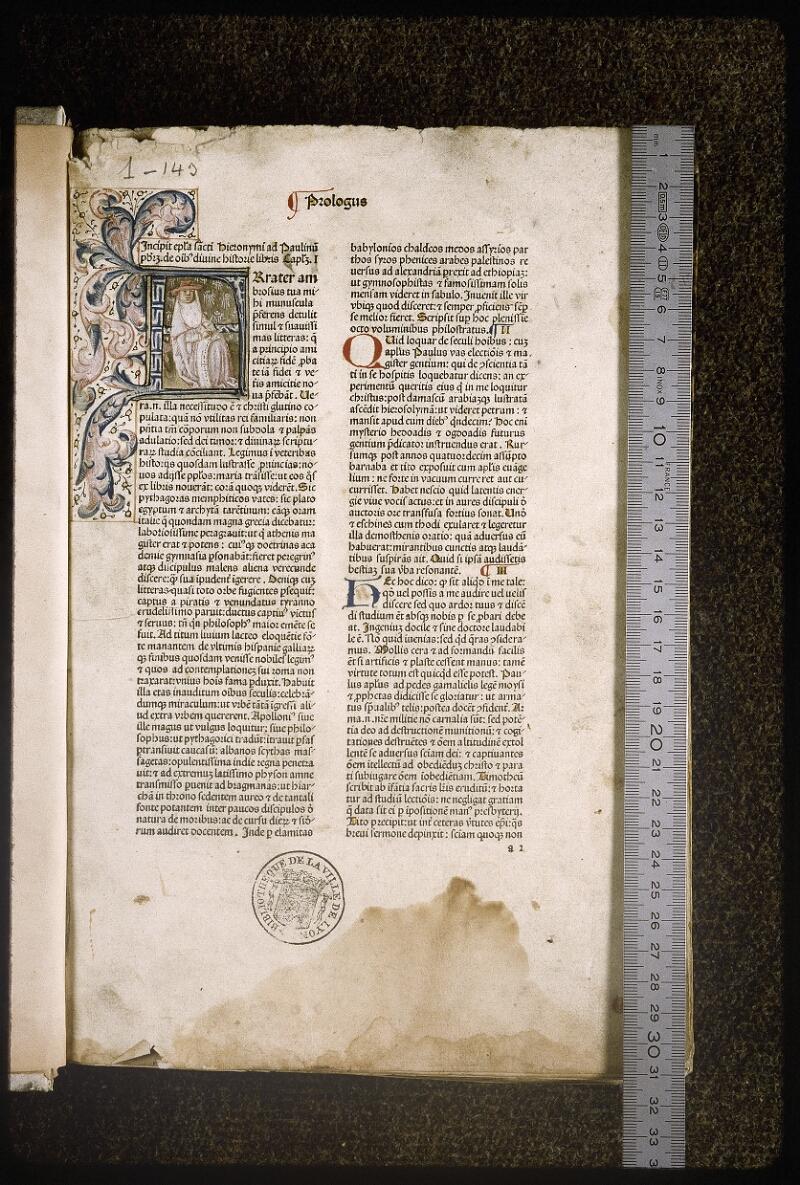 Lyon, Bibl. mun., inc. 0080, f. a 2 - vue 1