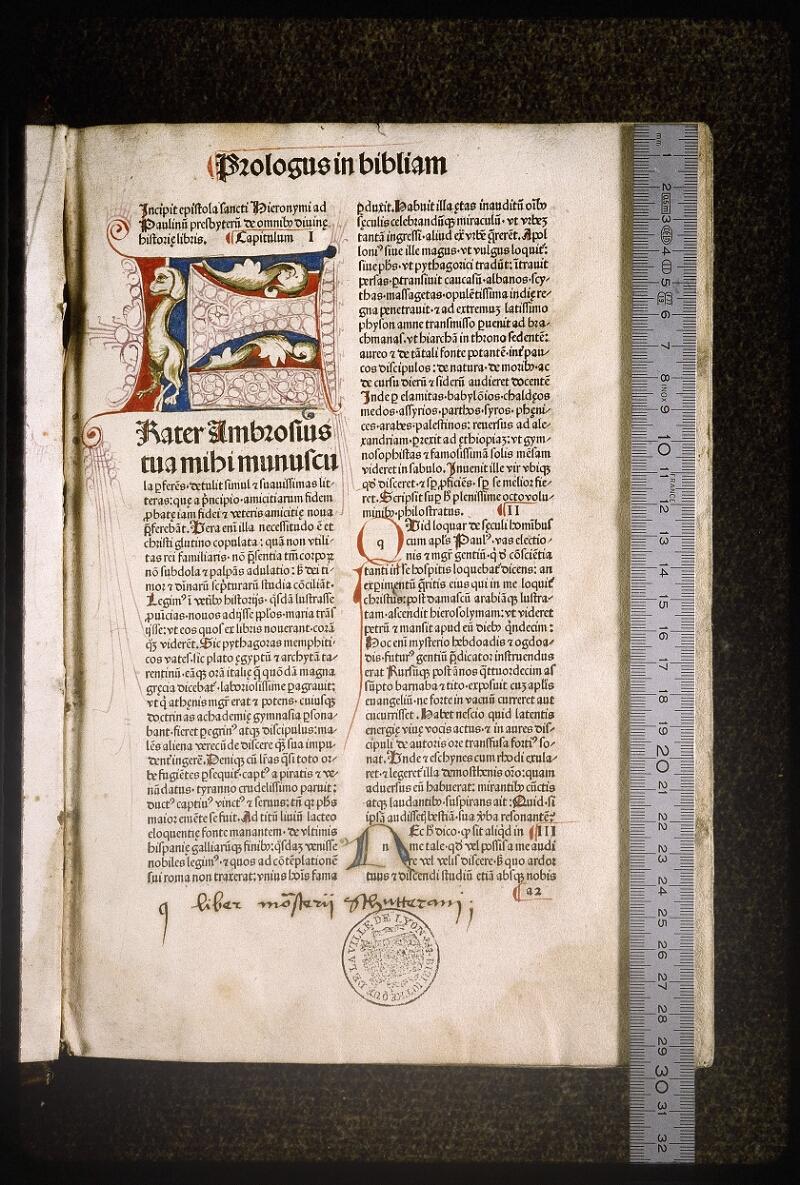 Lyon, Bibl. mun., inc. 0083, f. a 2 - vue 1