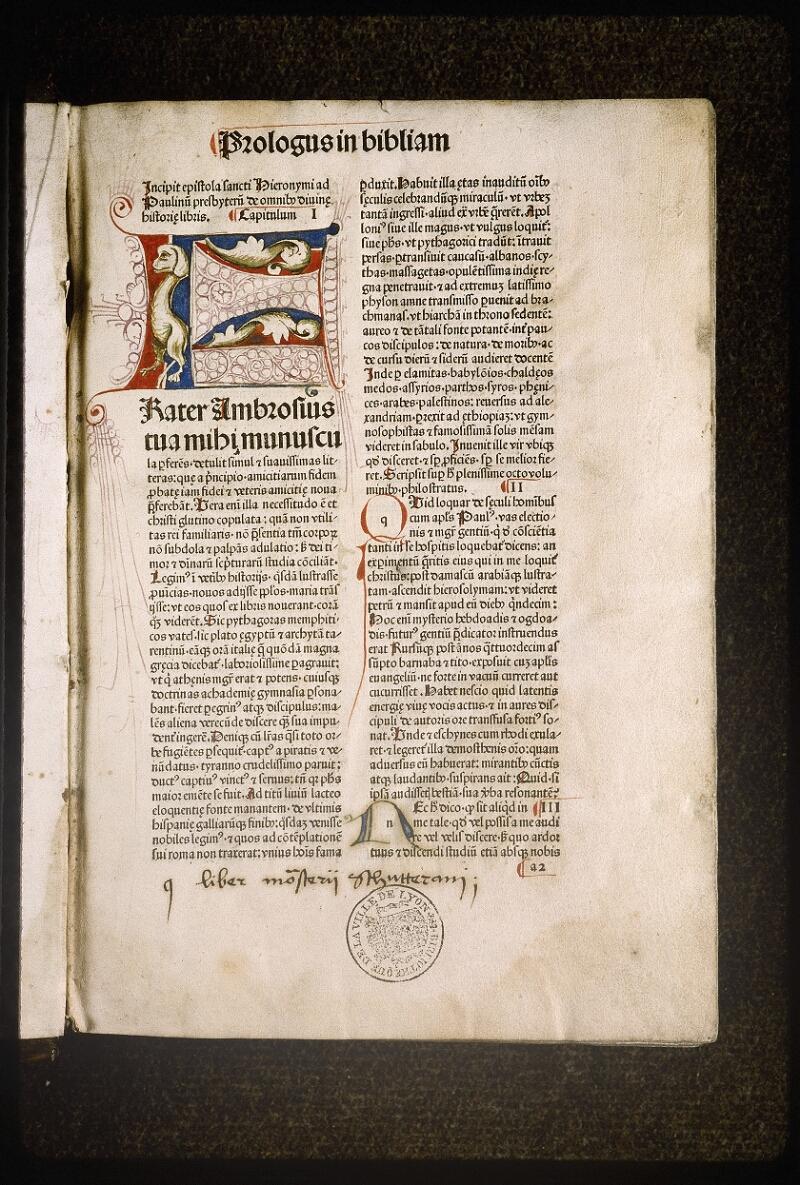 Lyon, Bibl. mun., inc. 0083, f. a 2 - vue 2