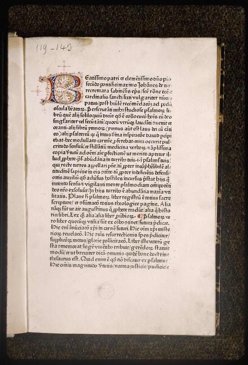 Lyon, Bibl. mun., inc. 0146, f. A - vue 1