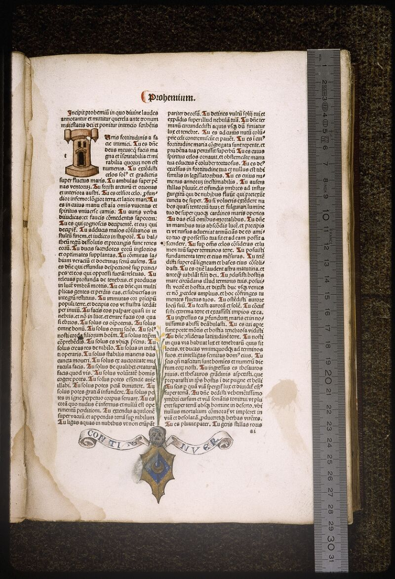 Lyon, Bibl. mun., inc. 0164, cahier 2, f. a 1 - vue 1