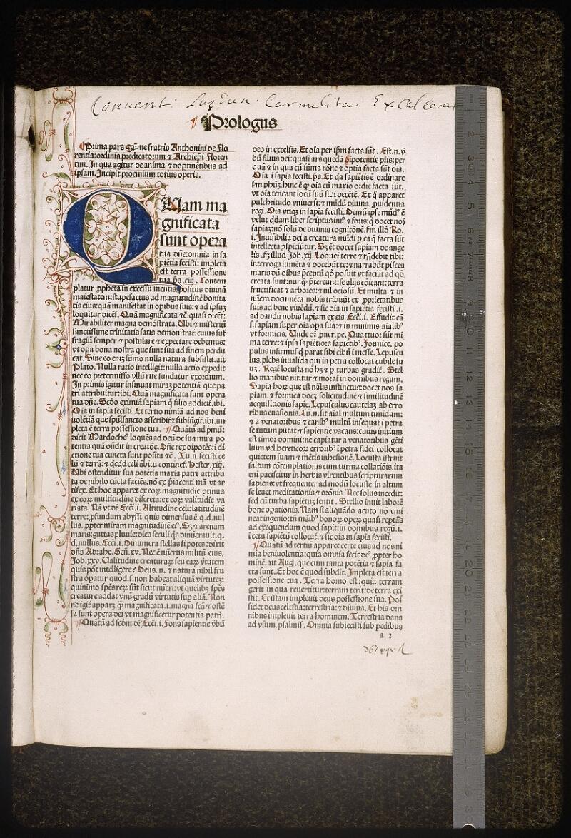 Lyon, Bibl. mun., inc. 0430, f. a 2 - vue 1