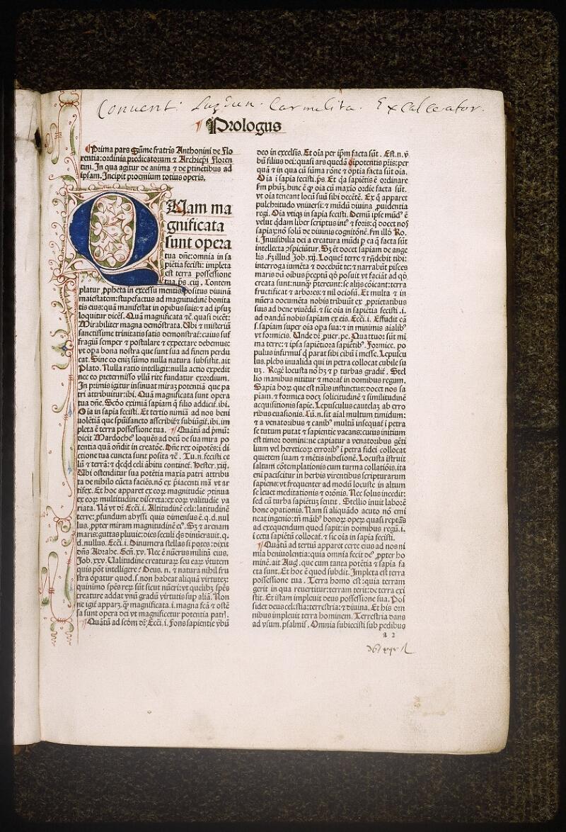 Lyon, Bibl. mun., inc. 0430, f. a 2 - vue 2