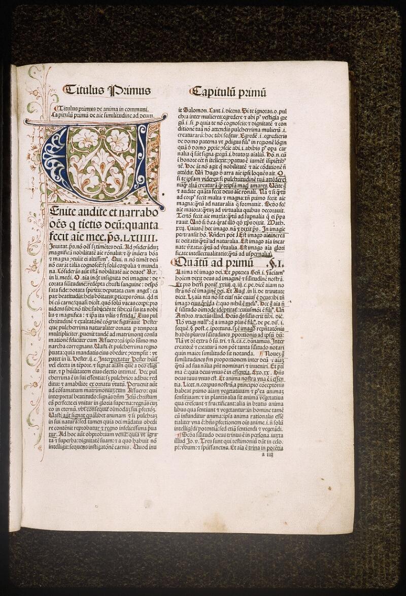 Lyon, Bibl. mun., inc. 0430, f. a 4 - vue 1