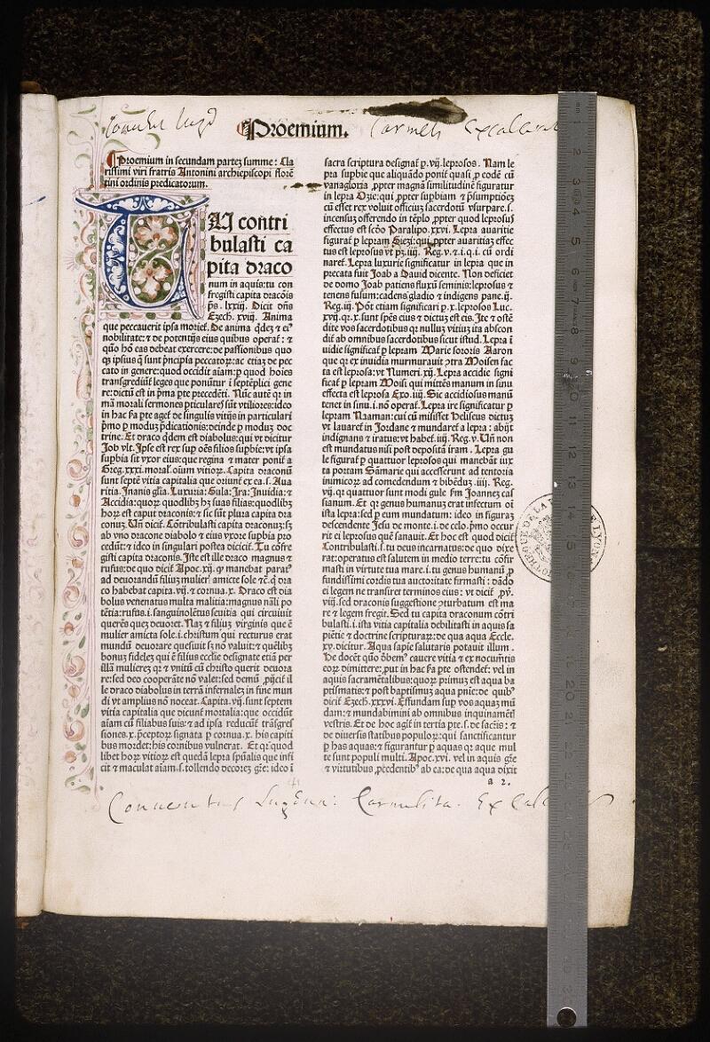Lyon, Bibl. mun., inc. 0431, f. a 2 - vue 1