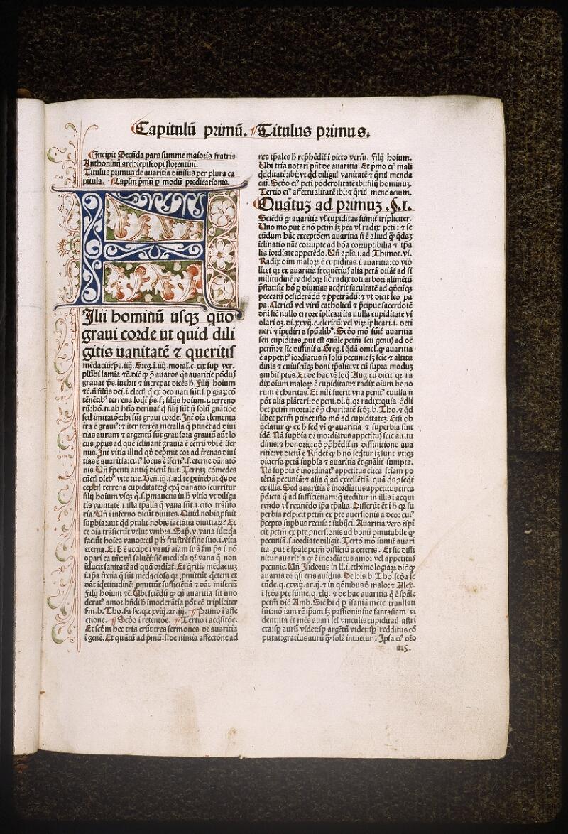 Lyon, Bibl. mun., inc. 0431, f. a 5 - vue 1